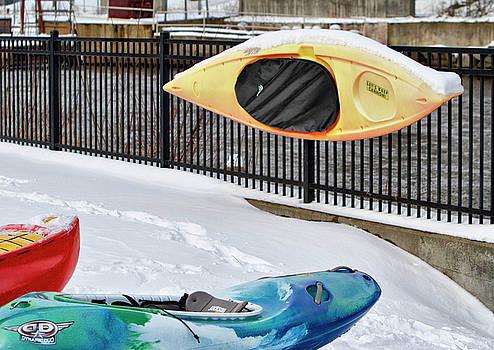 Winter Kayaking  by Betty Pauwels
