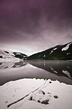 Winter Lake by Gerd Doerfler