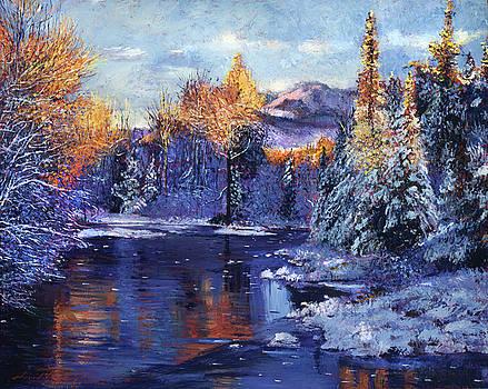 Winter Lake Memories by David Lloyd Glover