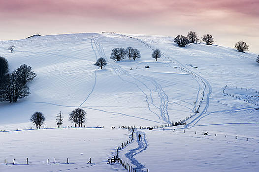 Winter landscape 3  in France by Eric Bauer