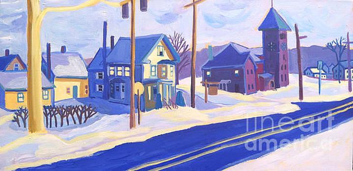 Winter Main Street Plaistow NH by Debra Bretton Robinson