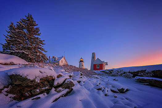 Winter Morning at Pemaquid Point by Rick Berk