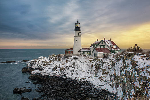 Winter Morning at Portland Head Light by Jesse MacDonald