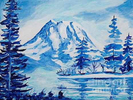 Winter Mt. Rainier by Art by Danielle