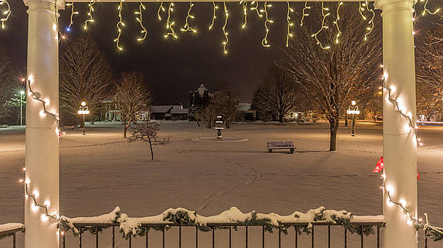 Winter Night From the Gazebo by Tim Kirchoff