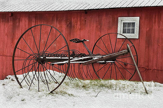 Winter on Farm by David Rucker