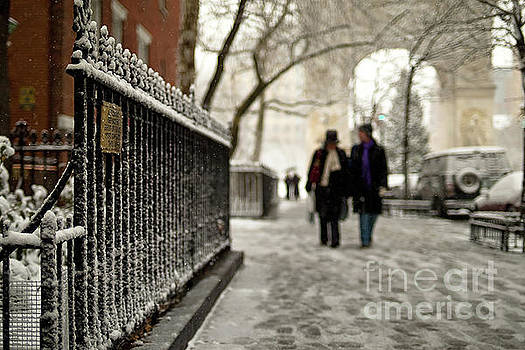 Winter on Fifth Avenue in Greenwich Village by Lynn Lieberman