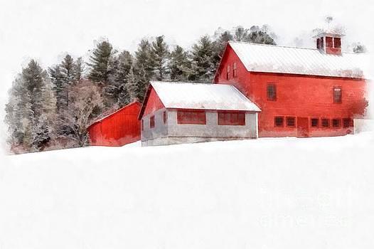 Winter on the Farm Enfield by Edward Fielding