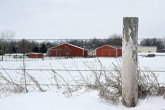 Winter on the farm by Jim  Darnall