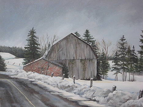 Winter on the farm by May Moore