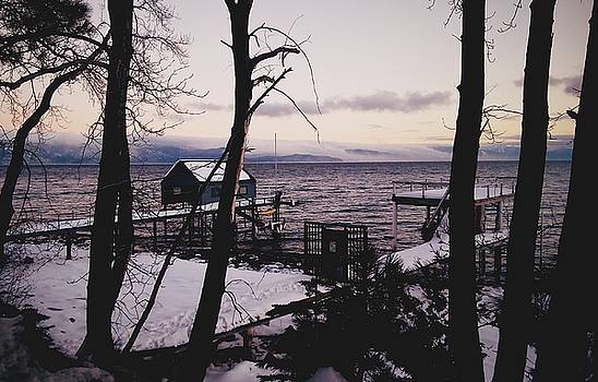 Winter On The Lake by Tom Hufford