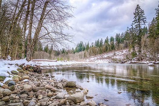 Winter on the Tyee River by Spencer McDonald