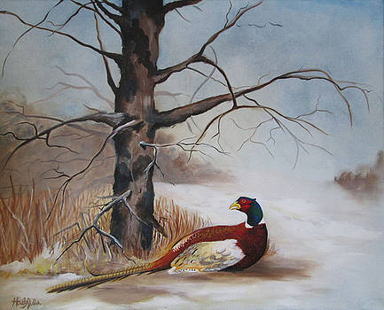 Winter Pheasant by Haley Jula