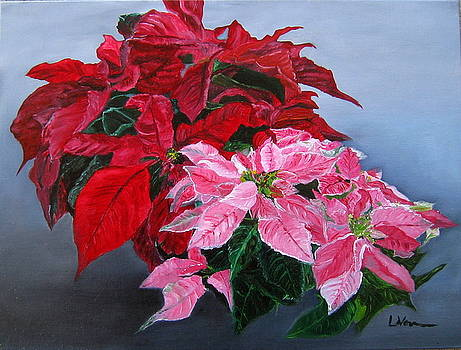 Winter Poinsettias by LaVonne Hand
