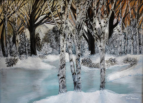 Winter Pond by Dick Bourgault