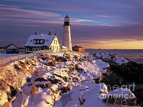 Winter, Portland Head Light by Kevin Shields