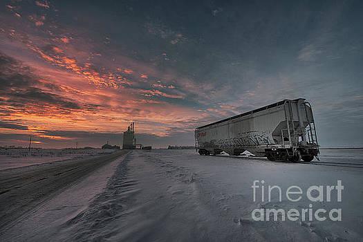 Winter Rail Car by Ian McGregor