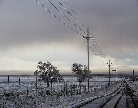 Winter Road by Nadine Berg