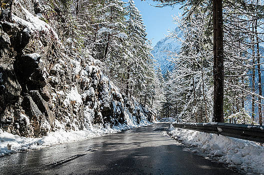 Winter road by Sergey Simanovsky