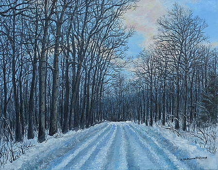 Winter Road to the Gas Well by Kathleen McDermott