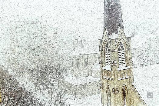 Winter Scene a la Van Gogh by Yvonne Wright