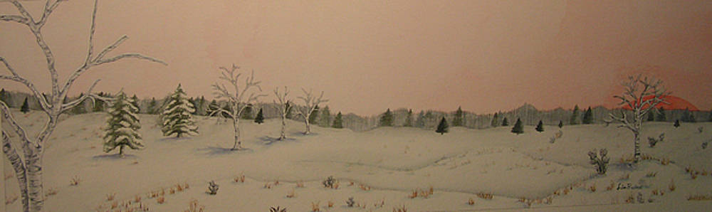 Winter Scene with Birch by Lisa Prusinski