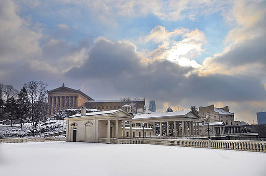 Winter Snow at the Waterworks by Bill Cannon
