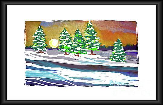 Winter Snow Drifts by Shirley Moravec