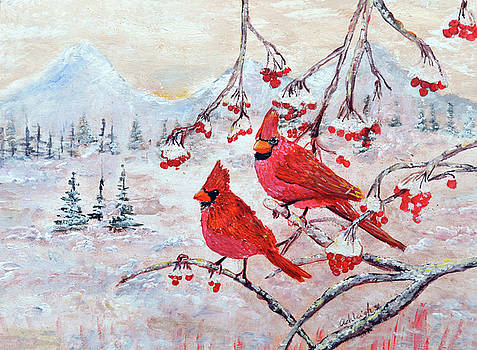 Winter Snow Red Cardinals by Ashleigh Dyan Bayer