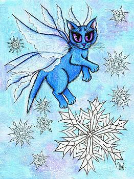 Winter Snowflake Fairy Cat by Carrie Hawks