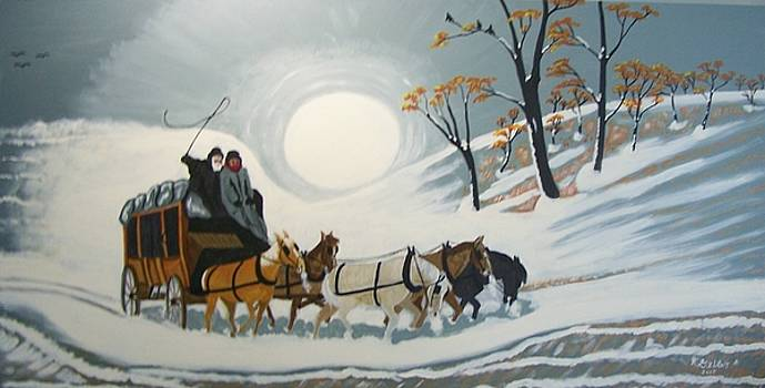 Winter stage coach by Robert E Gebler