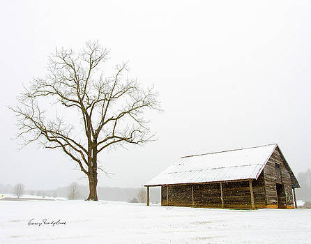 Winter Storm on the Farm by George Randy Bass