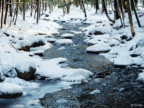 Celtic Artist Angela Dawn MacKay - Winter Stream