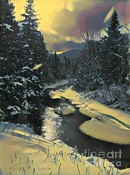 Winter Stream by David Rucker