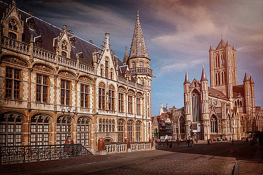 Winter Sun in Ghent Belgium  by Carol Japp