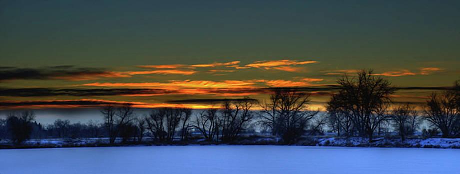Winter sunrise by Kenneth Eis
