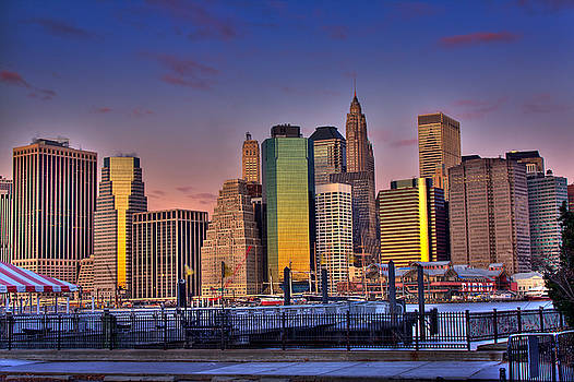 Val Black Russian Tourchin - Winter Sunrise Over Downtown Manhattan