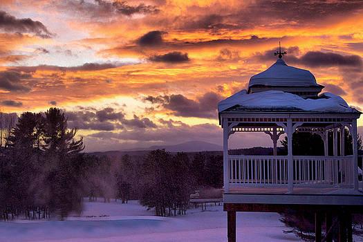 Winter Sunset  by Betty Pauwels