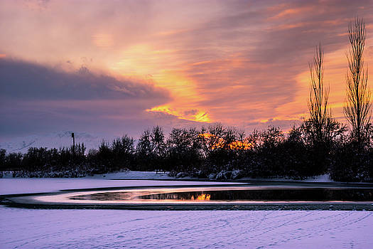 Winter sunset by Bryan Carter