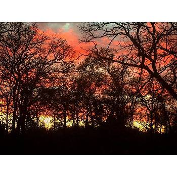 Winter Sunset. Captured This With My by Christi Vest