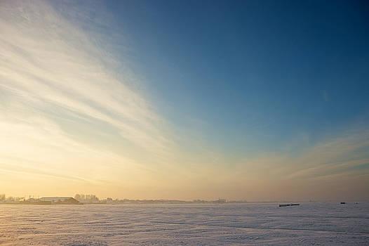 Winter Sunset by Johan Elzenga
