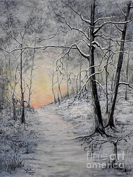 Winter Sunset by Judy Kirouac