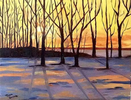Winter Sunset by Monica Ironside