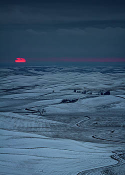 Winter Sunset on the Palouse by James Richman