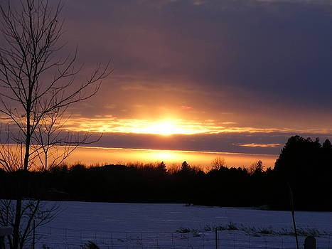 Winter Sunset by Phil Chamberlin