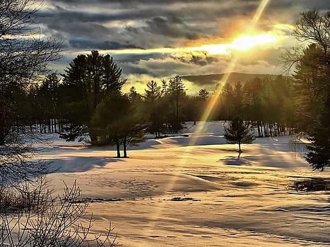 Winter Sunset Rays  by Betty Pauwels