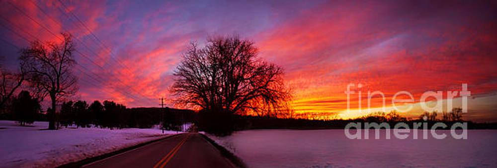 Rima Biswas - Winter sunset panorama
