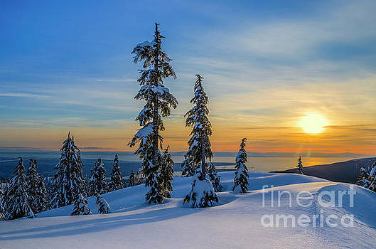 Winter sunset, Vancouver by Michael Wheatley