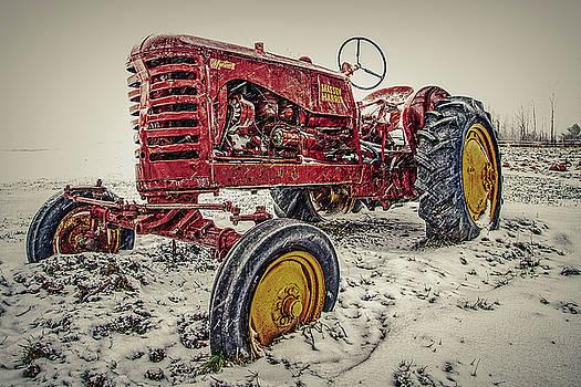 Winter Tractor  by Bob Orsillo
