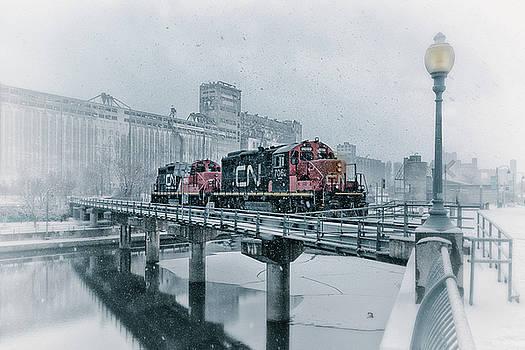 Winter Trainspotting by Yves Keroack